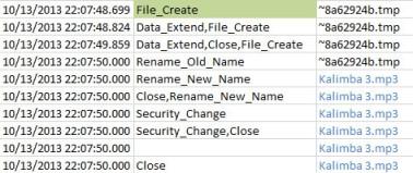 Renaming of temp file